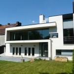 photo de maison de ville moderne toit plat