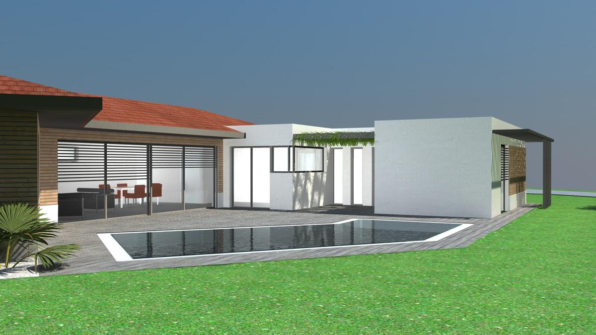De maison de ville moderne toit plat construction for L architecture moderne des maisons