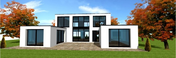 Photo de maison design d architecte toit plat for Modele maison d architecte