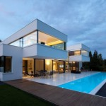 photo de maison design moderne toit plat