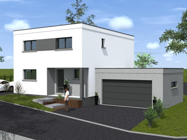 De maison en bois de r ve toit plat achat for Achat maison en bois