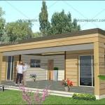 photo de maison en kit contemporaine toit plat