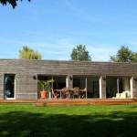 photo de maison originale d'architecte toit plat