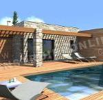 photo de maison provencale toit plat