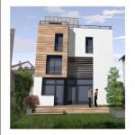 maison de ville toit plat