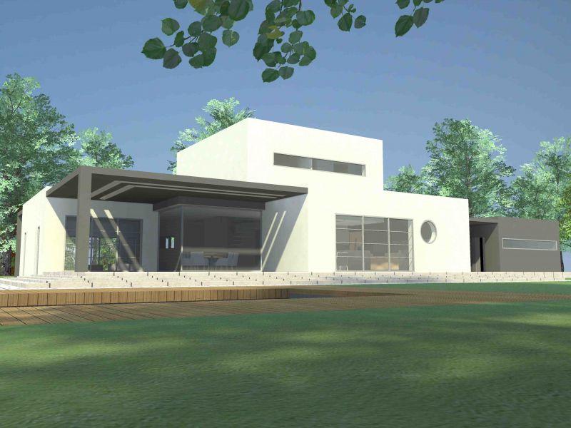 Maison de ville toit plat for Modele maison toit plat