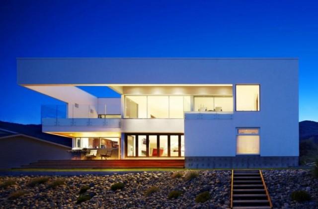 maison design avec piscine toit plat. Black Bedroom Furniture Sets. Home Design Ideas