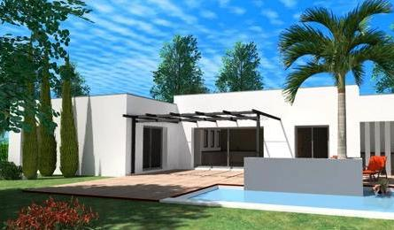 Maison design avec piscine toit plat for Local piscine toit plat