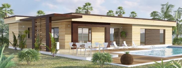 Maison Ossature Bois Kit : Maison Moderne Boiskit : mod?le maison en kit