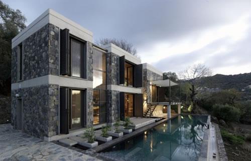 Maison en pierre moderne - Mc immo