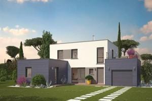 Neuve contemporaine toit plat construction for Maison neuve originale