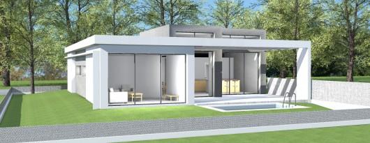 maison neuve contemporaine toit plat. Black Bedroom Furniture Sets. Home Design Ideas