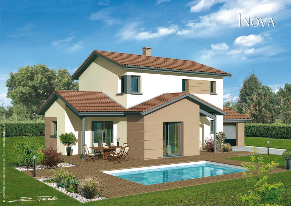 style de maison moderne beautiful exemple maison design moderne toit plat with style de maison. Black Bedroom Furniture Sets. Home Design Ideas