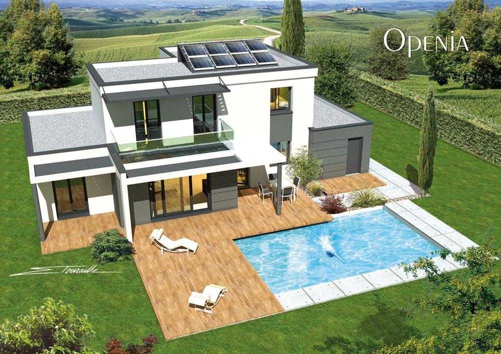 Maison neuve moderne for Plan maison neuve contemporaine