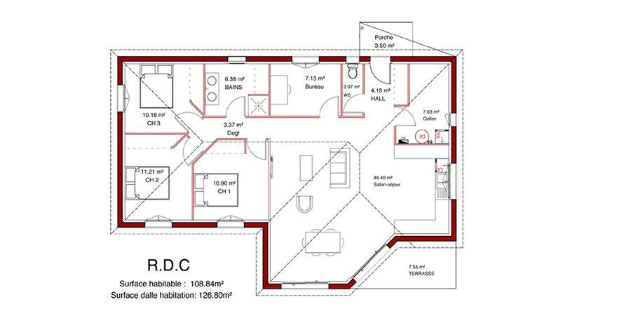 Mod le maison originale contemporaine - Plan de maison originale ...