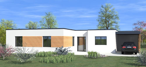 Maison originale moderne toit plat for Photo maison contemporaine toit plat