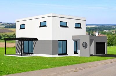 Maison originale moderne toit plat for Maison toit plat pas cher