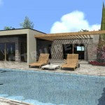 maison provencale avec piscine toit plat
