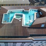 photo de maison de star avec piscine toit plat