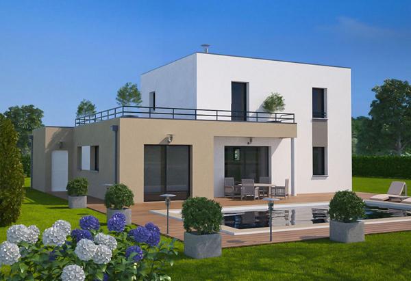 Photo de maison des iles d architecte toit plat for Voir maison