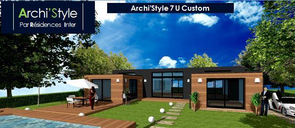 Photo de maison des iles d architecte toit plat - Forme de toiture maison ...