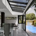 photo de maison design avec piscine toit plat