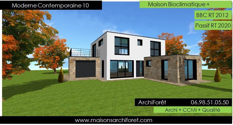 maison en kit toit terrasse