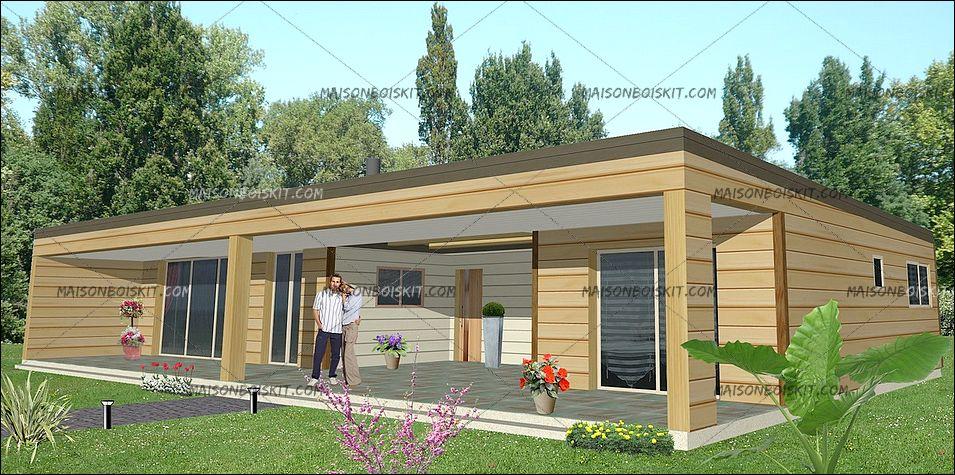 de maison en kit moderne toit plat 2014. Black Bedroom Furniture Sets. Home Design Ideas