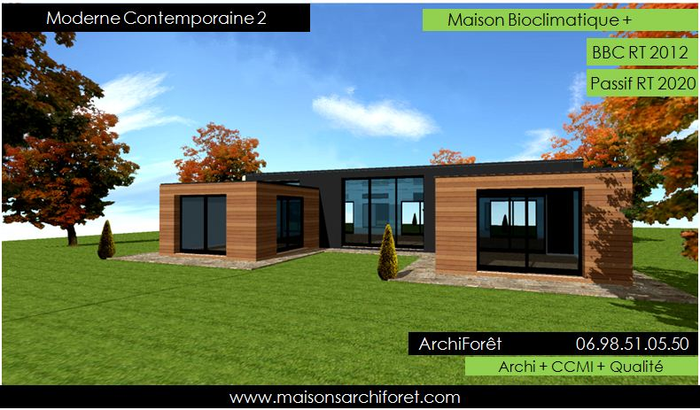 Photo de maison en kit toit plat for Modele maison toit plat