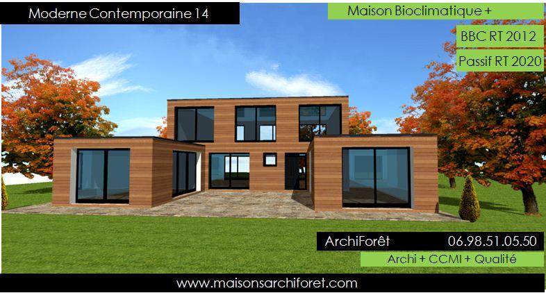 photo de maison kit bois de r ve toit plat. Black Bedroom Furniture Sets. Home Design Ideas