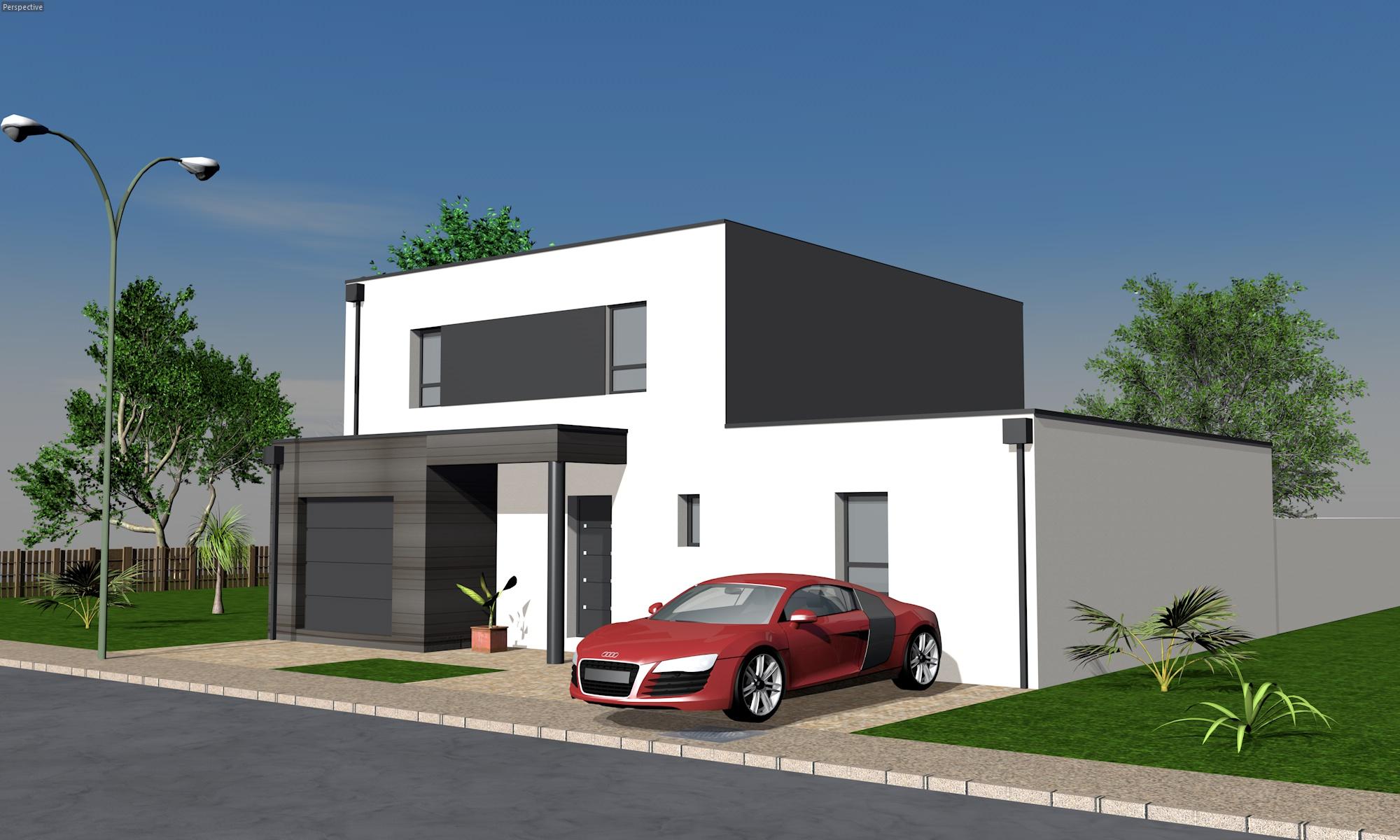 Photo de maison moderne for Maison moderne 06