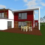 photo de maison moderne toit plat