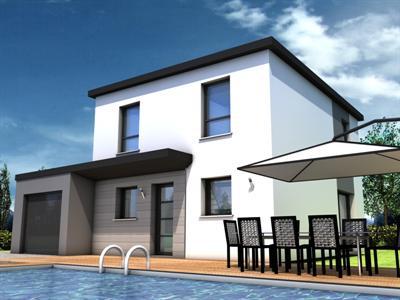 De maison neuve moderne toit plat achat for Achat maison neuve 53
