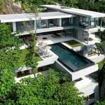 photo de maison originale d'architecte