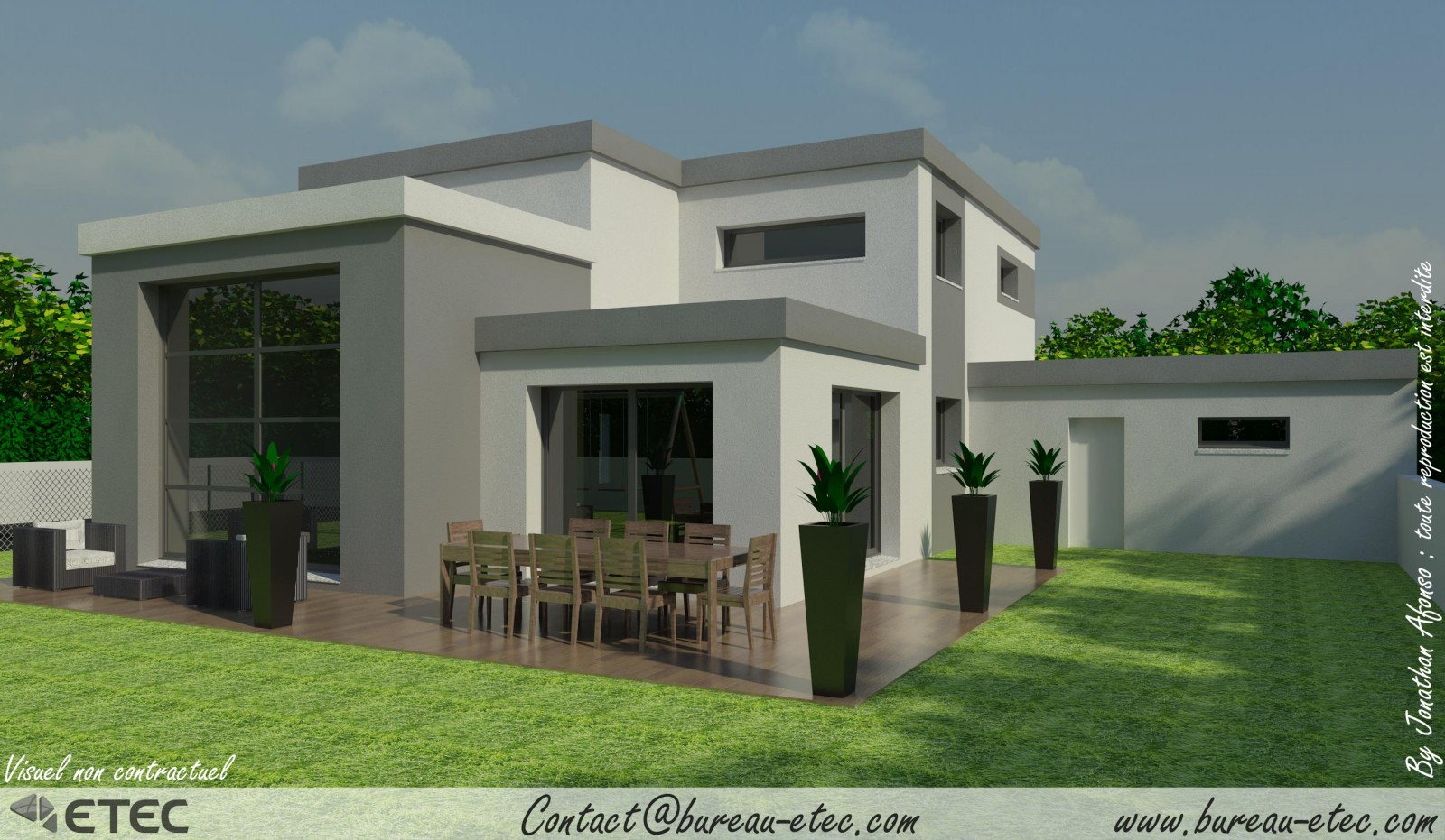 Photo de maison toit plat for Inspiration maison