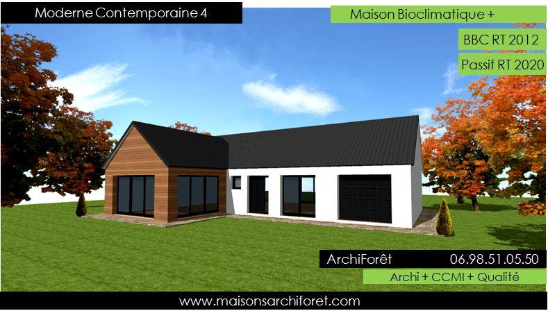 Maison design de r ve toit plat construction - Maison toit plat en l ...