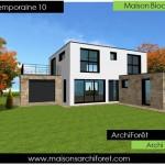 maison en pierre contemporaine