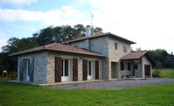 Maison en pierre contemporaine - Maison facade en pierre ...