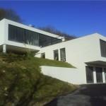 maison neuve avec piscine toit plat