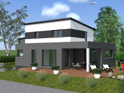 Originale toit plat construction for Construction maison originale