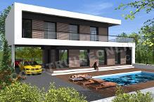 Maison provencale d architecte toit plat for Modele maison d architecte