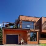 photo de maison des iles avec piscine toit plat