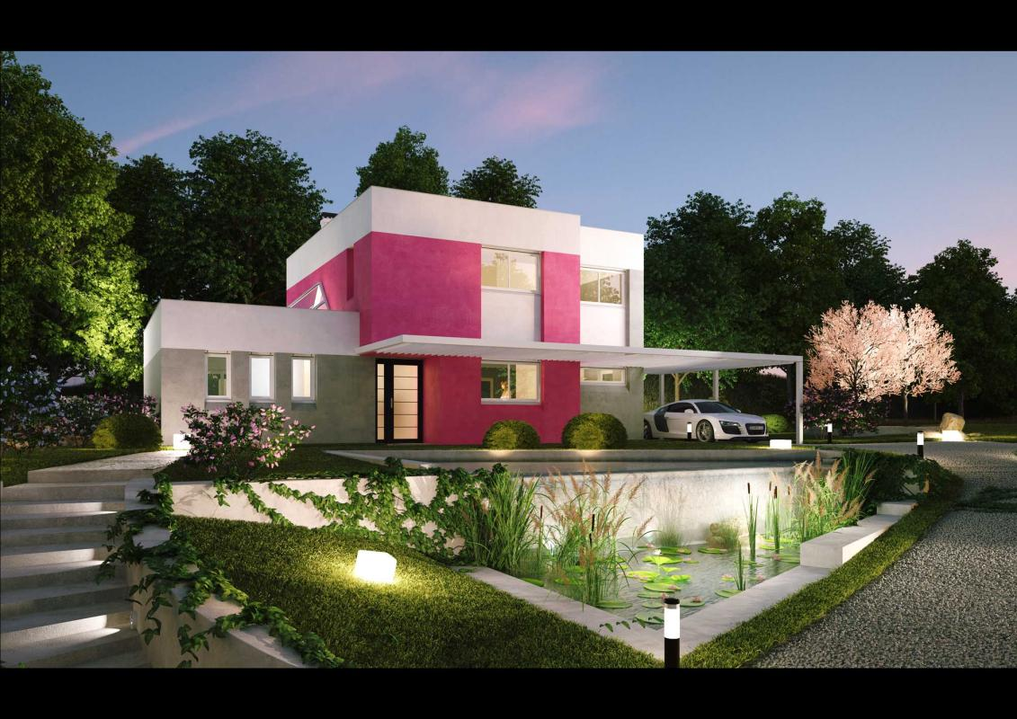 photo de maison des iles moderne toit plat. Black Bedroom Furniture Sets. Home Design Ideas