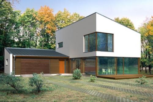 photo de maison en kit moderne. Black Bedroom Furniture Sets. Home Design Ideas