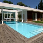photo de maison originale avec piscine