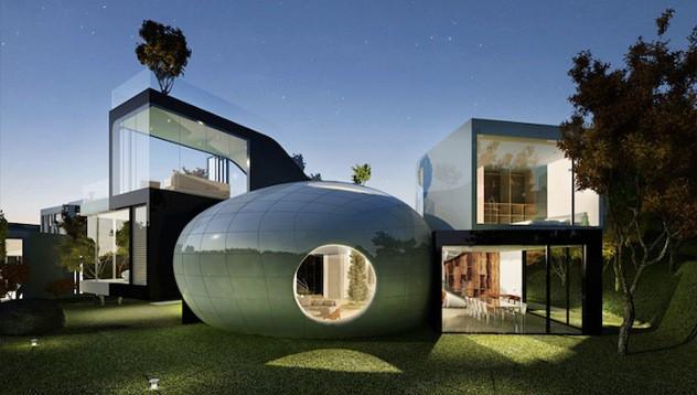 photo de maison originale moderne. Black Bedroom Furniture Sets. Home Design Ideas