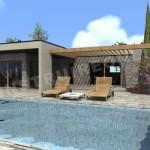 photo de maison provencale contemporaine toit plat