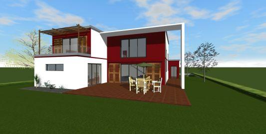 photo de maison provencale contemporaine toit plat. Black Bedroom Furniture Sets. Home Design Ideas