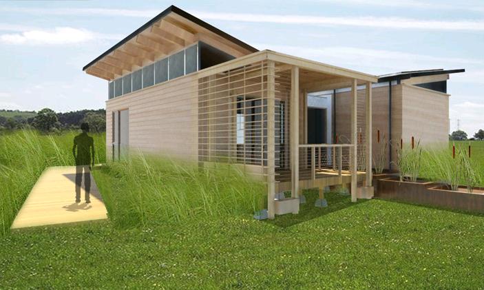 la maison ecologique gallery of la maison passive estelle une maison cologique with la maison. Black Bedroom Furniture Sets. Home Design Ideas