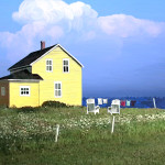 image maison et paysage